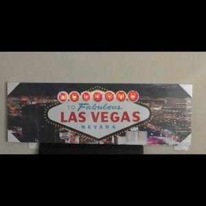 Las Vegas wall decor with lights